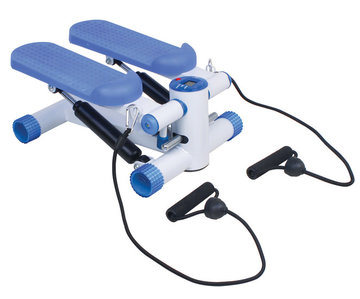 Mini stepper met LED scherm en trainingsbanden (VP159T)